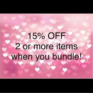 15% off when you buy 2 or more items :)